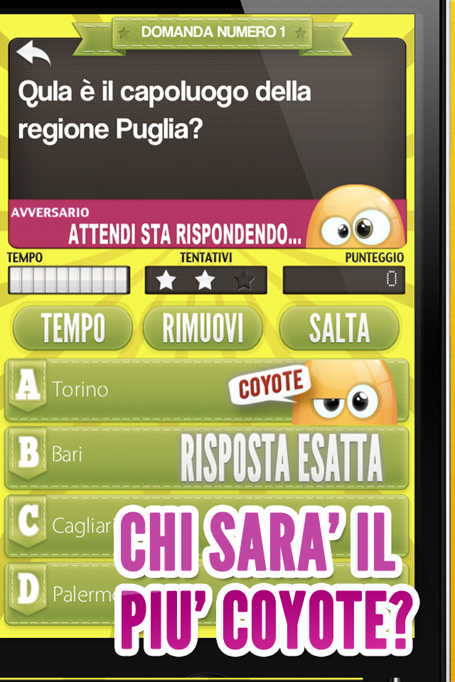 Screenshot Il Quiz del Coyote